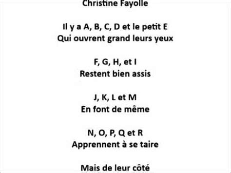 LES LETTRES ECOLIERES (Christine Fayolle) - YouTube