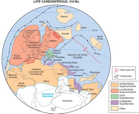 Plate-tectonic reconstruction of the late Carboniferous