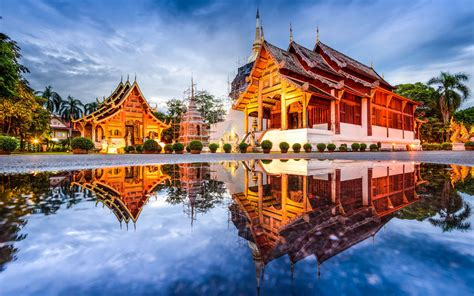 Chiang Mai Mountain City In Thailand Buddhist Temples