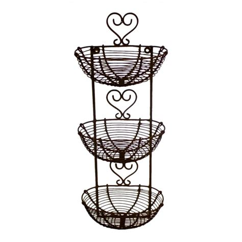 Wall mounted decorative metal wire small baskets, French