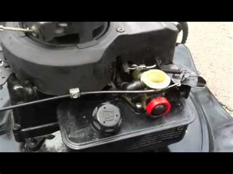 Briggs and Stratton 4hp idle problem - YouTube