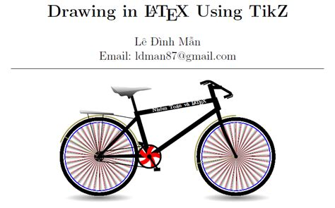 How can I convert code for a TikZ bicycle into code for