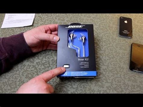 BOSE IE2 - In-ear Headphones - UnBoxing + How to determine