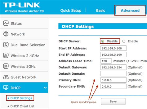 Awesome Toast!   Configure TP-LINK Archer C9 (or C7, C8