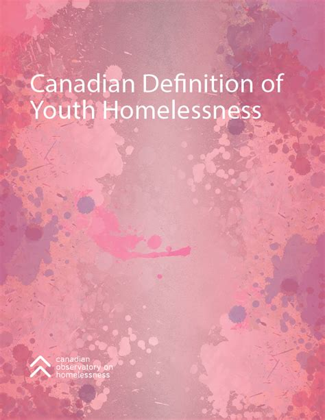 Canadian Definition of Youth Homelessness | The Homeless Hub