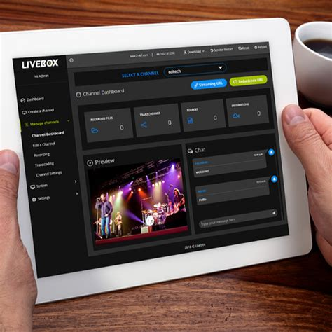 Livebox Video Streaming Software, Application Management