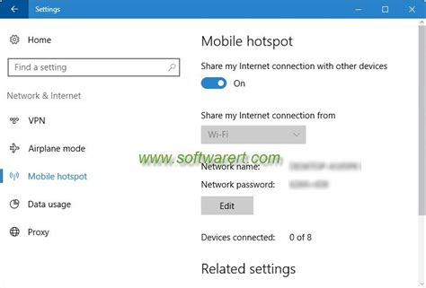 Create mobile hotspot in Windows 10 – Software RT