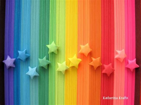 Items similar to 500 Origami Stars Paper Strips, Rainbow