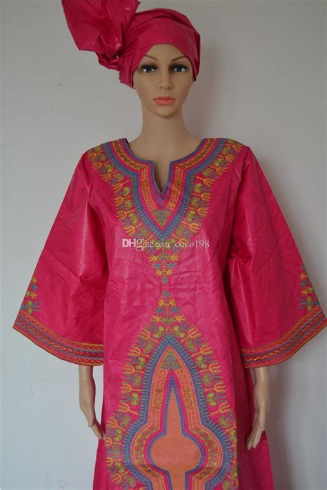 2019 Habits Traditionnel African Pour Femme Robe Bazin