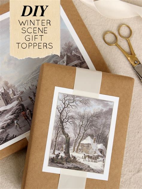 DIY Project: Winter Scene Painting Gift Toppers – Design