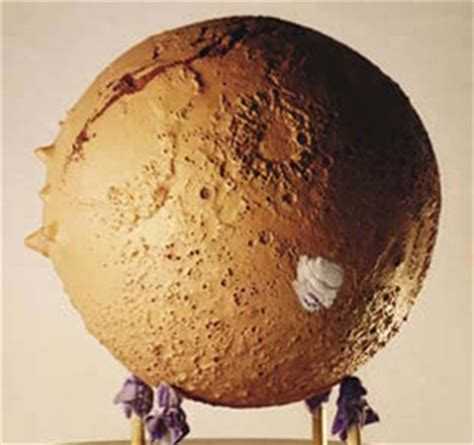 Raised Relief Mars Globe Brings the Red Planet Closer